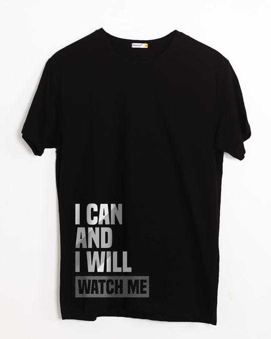 Shop Watch Me Half Sleeve T-Shirt-Front