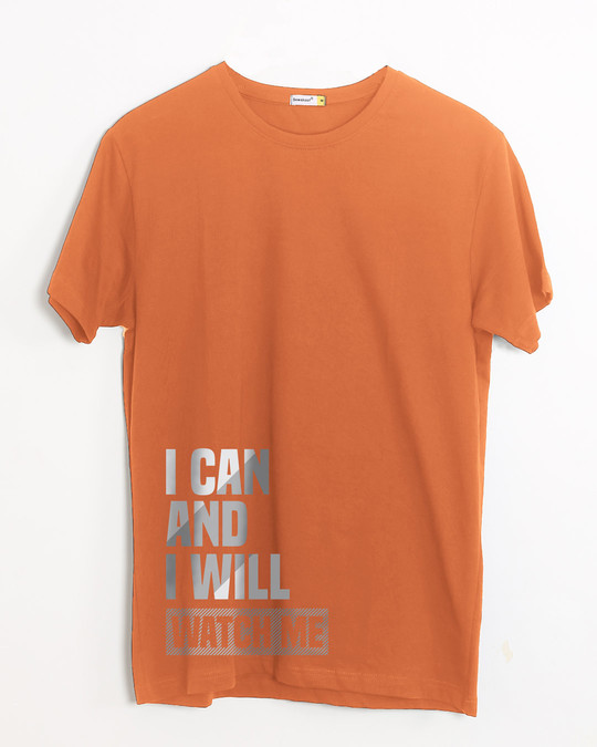 Shop Watch Me Half Sleeve T-Shirt-Front