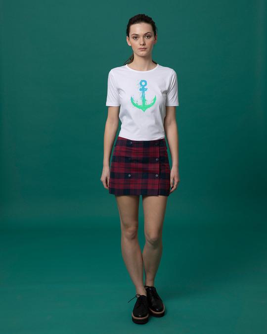 Shop Watercolor Anchor Basic Round Hem T-Shirt