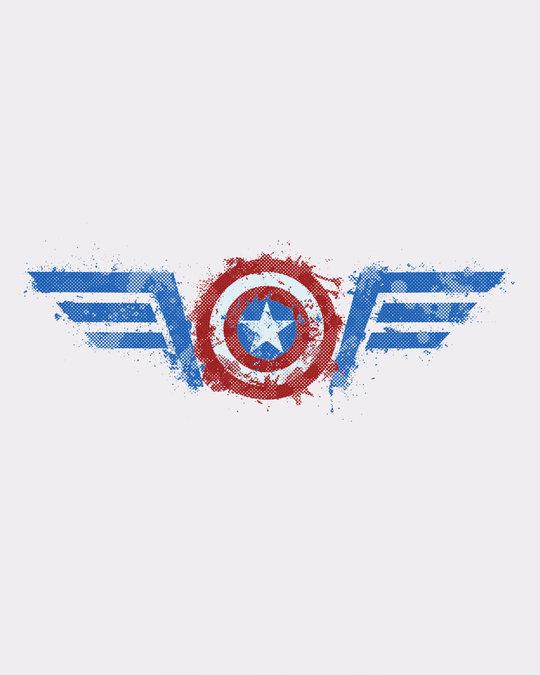Shop Watercolor Captain America Boyfriend T-Shirt (AVL)