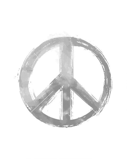 Shop Watercolor Peace Boyfriend T-Shirt