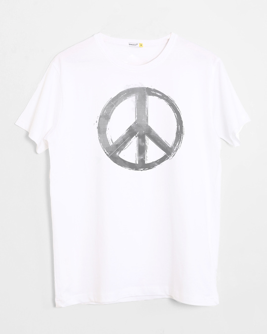 Shop Watercolor Peace Half Sleeve T-Shirt-Front