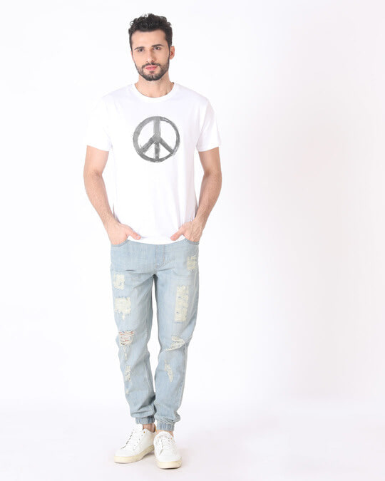 Shop Watercolor Peace Half Sleeve T-Shirt