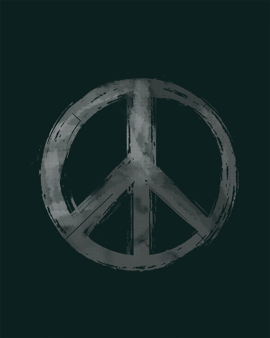 Shop Watercolor Peace Round Neck 3/4th Sleeve T-Shirt