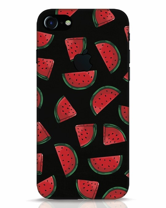 Shop Watermelons iPhone 7 Logo Cut Mobile Cover-Front