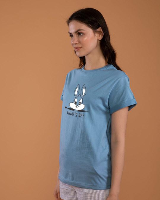 Shop Watsup Bunny Boyfriend T-Shirt-Back