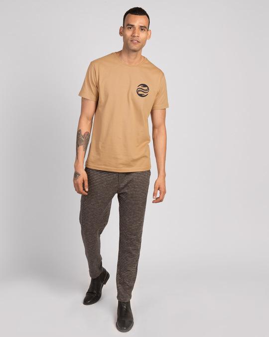 Shop Wave Reflect Half Sleeve T-Shirt-Design