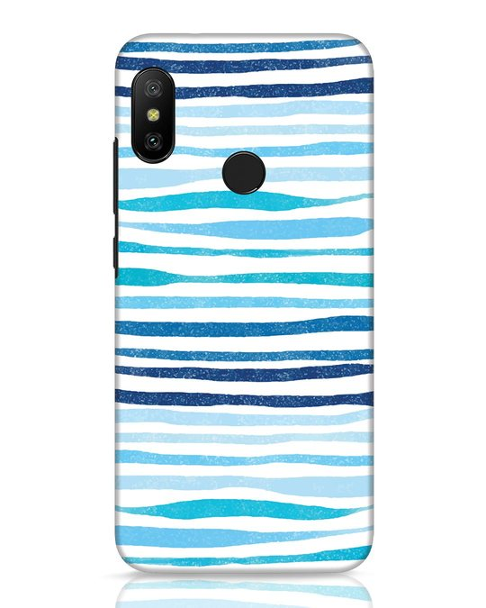 Shop Waves Xiaomi Redmi Note 6 Pro Mobile Cover-Front