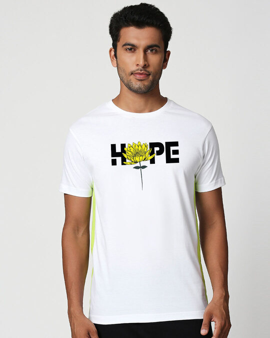 Shop We Still Have Hope Contrast Side Seam Panel T-Shirt-Front