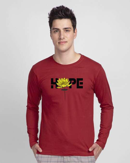 Shop We Still Have Hope Full Sleeve T-Shirt-Front