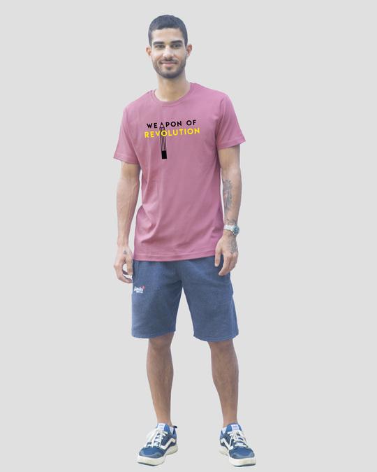 Shop Weapon Of Revolution Half Sleeve T-Shirt Frosty Pink-Design