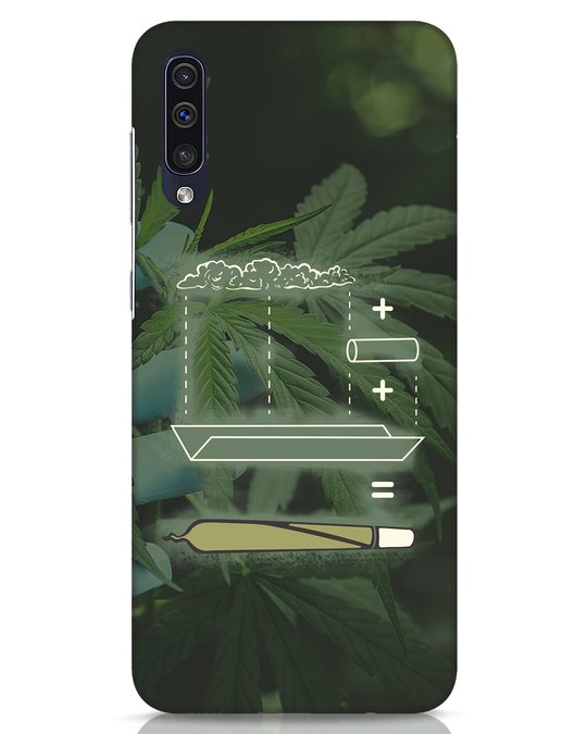 Shop Weed Math Samsung Galaxy A50 Mobile Cover-Front