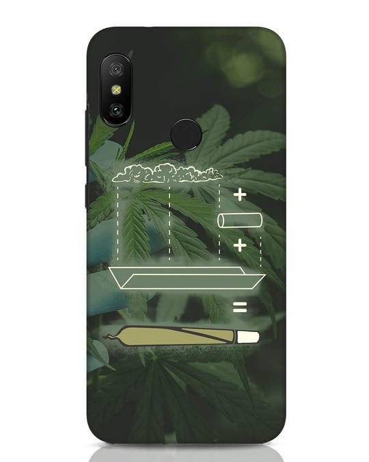 Shop Weed Math Xiaomi Redmi Note 6 Pro Mobile Cover-Front