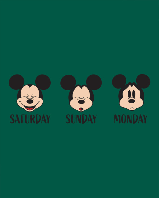 Shop Weekend Mood Mickey Fleece Hoodies (DL)