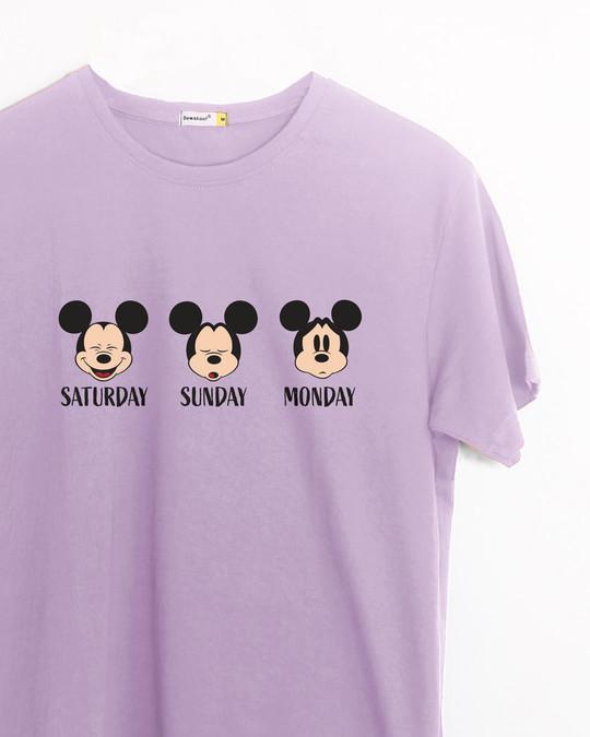 Shop Weekend Mood Mickey Half Sleeve T-Shirt (DL)-Front