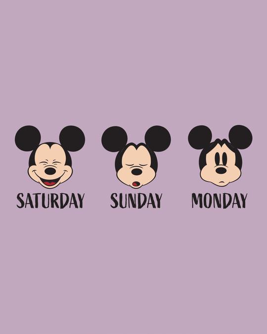 Shop Weekend Mood Mickey Half Sleeve T-Shirt (DL)