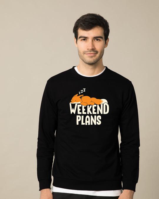 Shop Weekend Plans Fleece Light Sweatshirt-Front