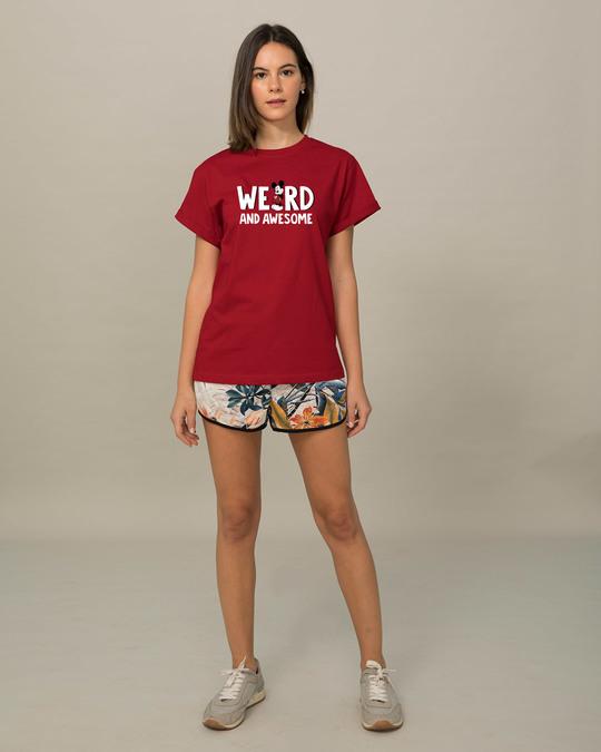 Shop Weird & Awesome Mickey Boyfriend T-Shirt (DL)-Design