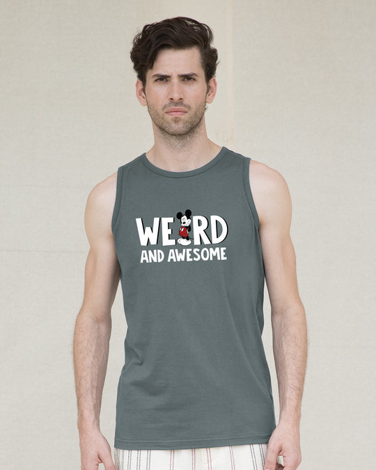 Shop Weird & Awesome Mickey Vest (DL)-Front