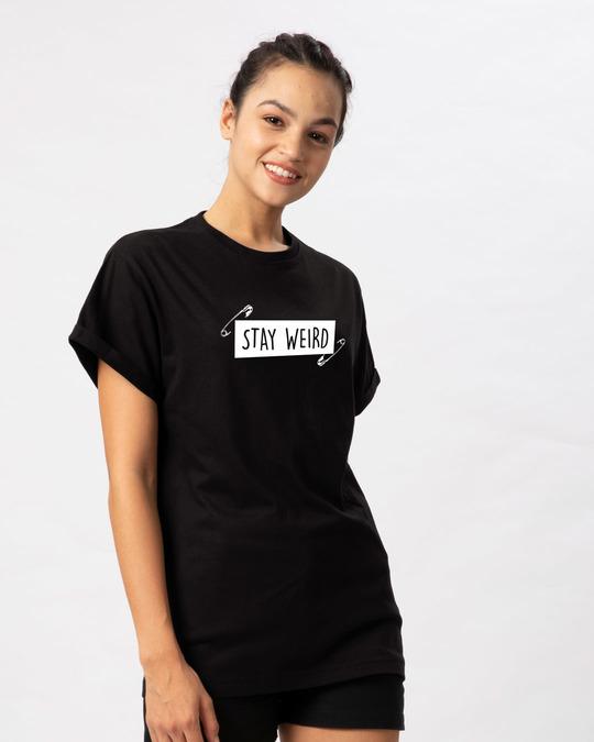 Shop Weird Boyfriend T-Shirt-Back