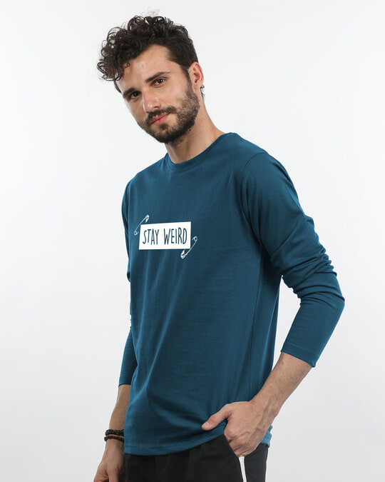 Shop Weird Full Sleeve T-Shirt-Back