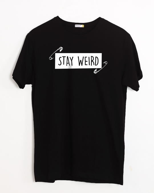 Shop Weird Half Sleeve T-Shirt-Front