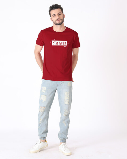 Shop Weird Half Sleeve T-Shirt