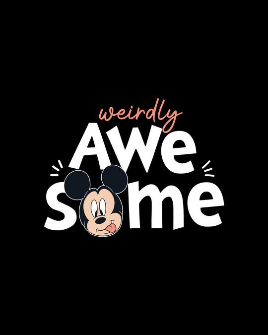 Shop Weirdly Awesome Mickey Boyfriend T-Shirt (DL) Black-Full