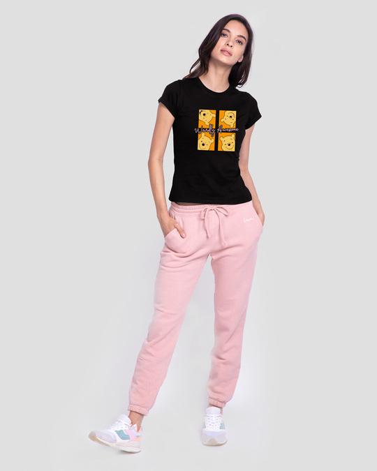 Shop Weirdly Awesome Pooh Half Sleeve T-Shirt (DL) Black-Design