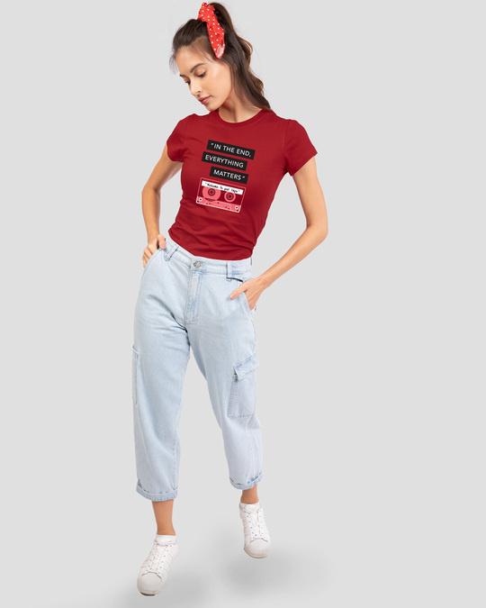 Shop Welcome To Your Tape 13 Half Sleeve Printed T-Shirt Bold Red-Full