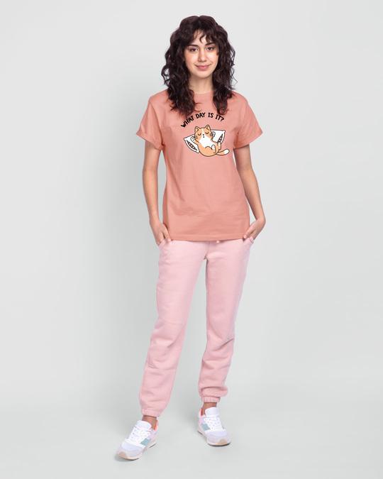 Shop What Day Is It Boyfriend T-Shirt Misty Pink-Full