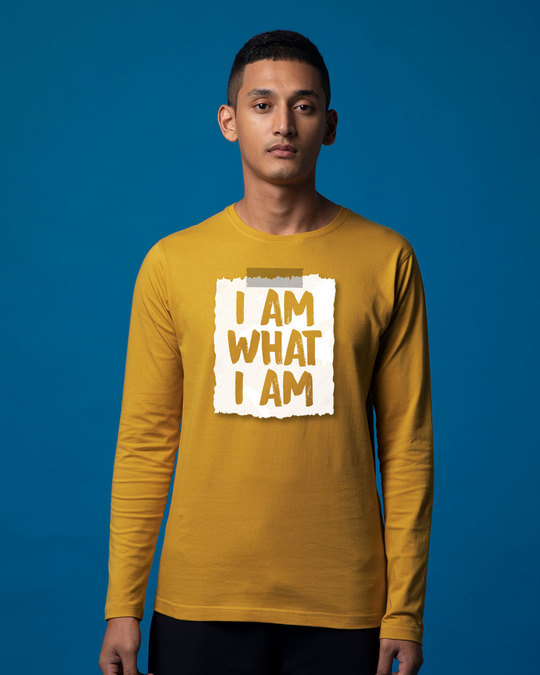Shop What I Am Full Sleeve T-Shirt-Front