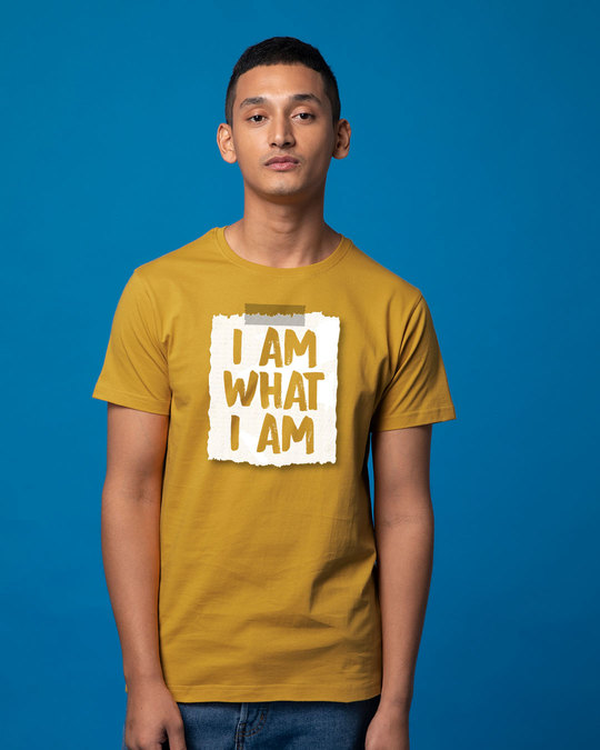 Shop What I Am Half Sleeve T-Shirt-Back