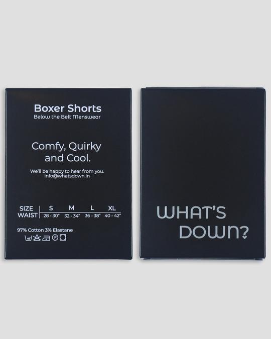 Shop What's Down | Red Geometric Pattern Boxer Shorts | Math Boxers