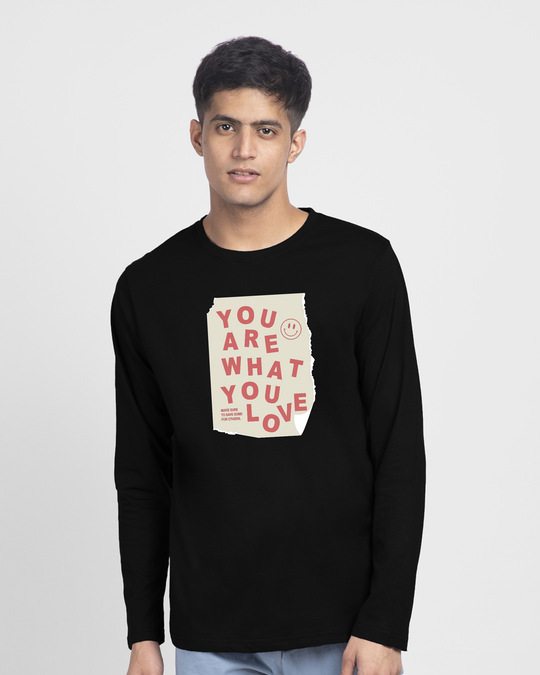 Shop What You Love Full Sleeve T-Shirts-Front