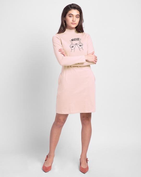 Shop Whateva  High Neck Pocket Dress-Design