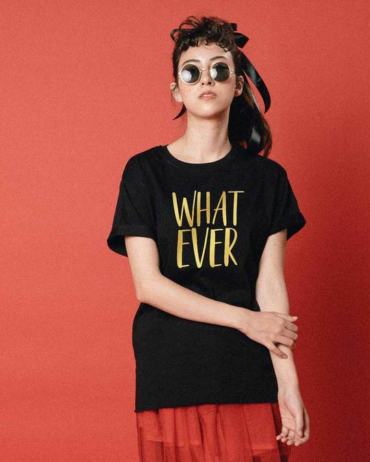 Shop Whatever Gold Gradient Boyfriend T-Shirt-Front
