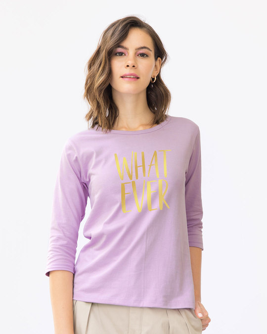 Shop Whatever Gold Gradient Round Neck 3/4th Sleeve T-Shirt-Back