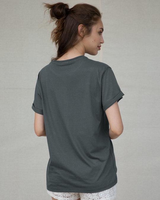 Shop Whatever Peel Off Boyfriend T-Shirt-Back