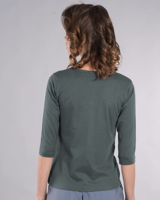 Shop Whatever Peel Off Round Neck 3/4th Sleeve T-Shirt-Back