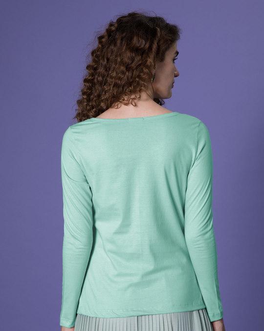 Shop Whatever Peel Off Scoop Neck Full Sleeve T-Shirt-Back