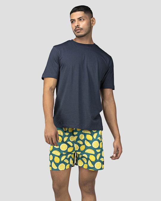 Shop Whats Down Green Lemon Boxer-Front