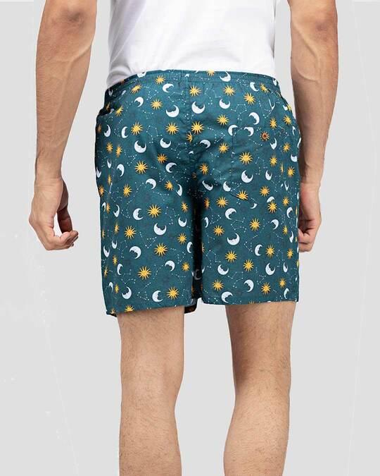 Shop Whatsdown Green Galaxy Boxers-Design