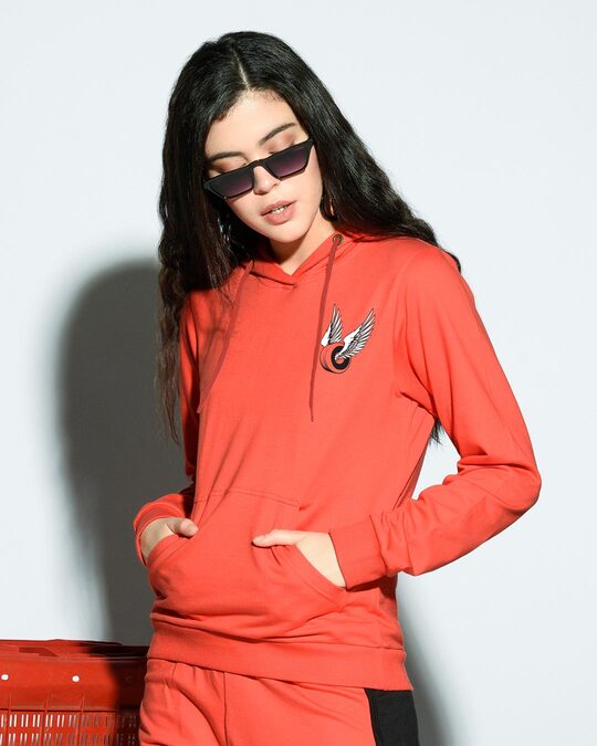 Shop Wheel Wings Hoodie Sweatshirt Smoke Red-Front
