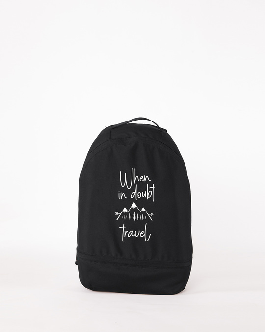 Shop When In Doubt Travel Small Backpack-Front