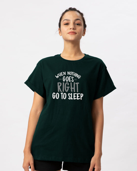 Shop When Nothing Goes Boyfriend T-Shirt-Front