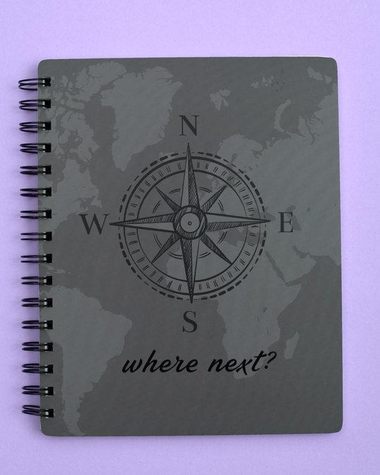 Shop Where Next Spiral Notebook-Front