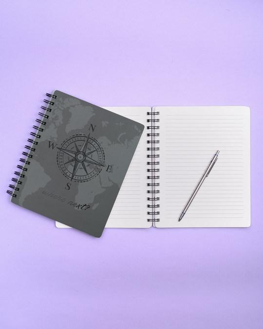 Shop Where Next Spiral Notebook-Back