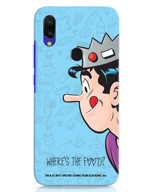 Shop Where's The Food Xiaomi Redmi 7 Mobile Cover-Front