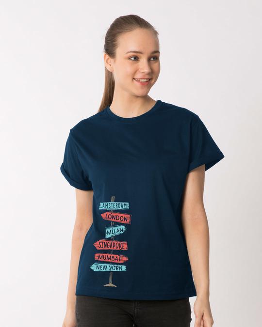 Shop Which Way To Go Boyfriend T-Shirt-Front
